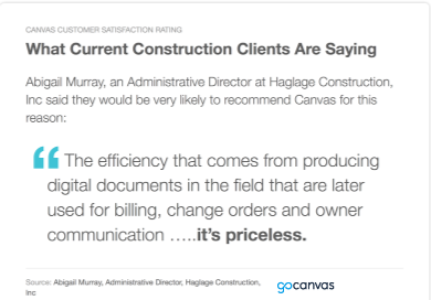 Why Construction Companies Choose Canvas