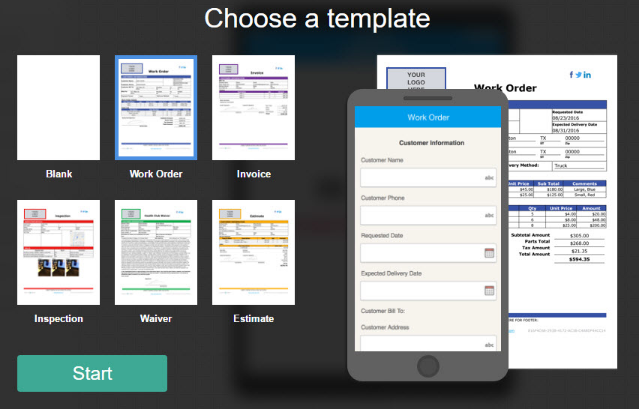 Mobile Form Templates