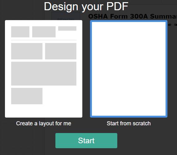 Design your PDF