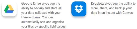 Google Drive, DropBox
