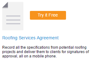 Roofing Service Agreement - Mobile Form