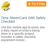 Mobile Time Sheet with Safety Checklist