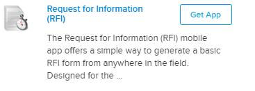 RFI mobile form