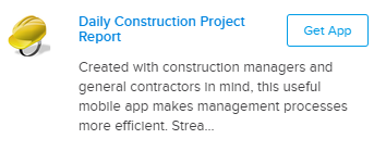 Daily construction project report mobile form