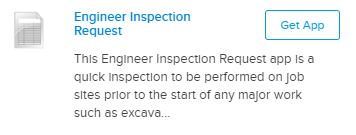 Engineer inspection request mobile form