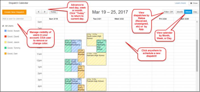 Gocanvas Dispatch Calendar