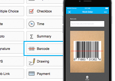 Barcode Field - Scanning Barcode