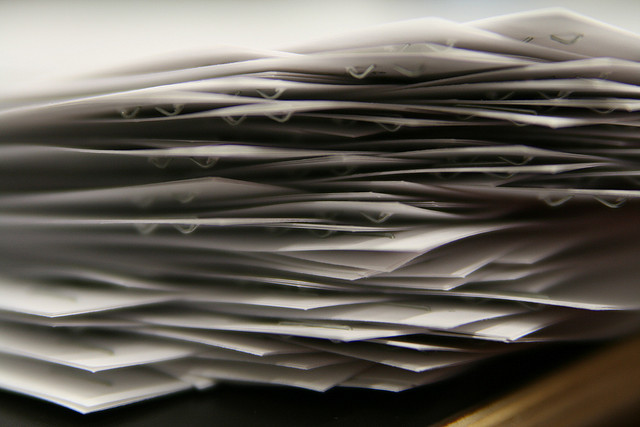 Pile of Paper Forms