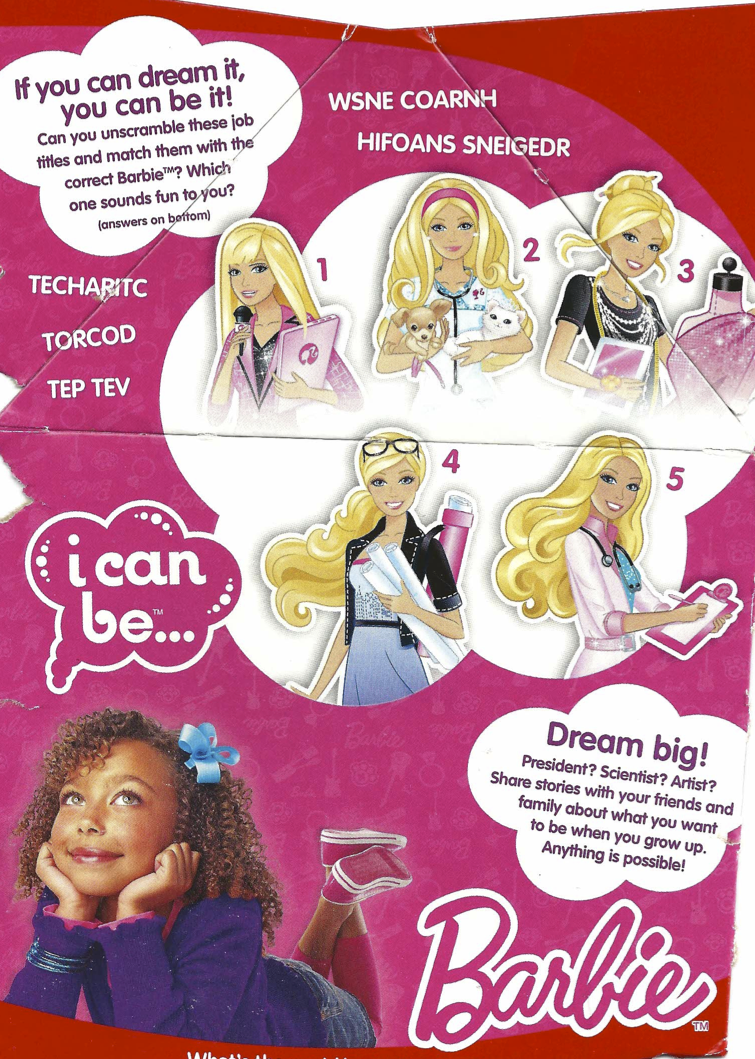 Barbie Careers and Using Paper