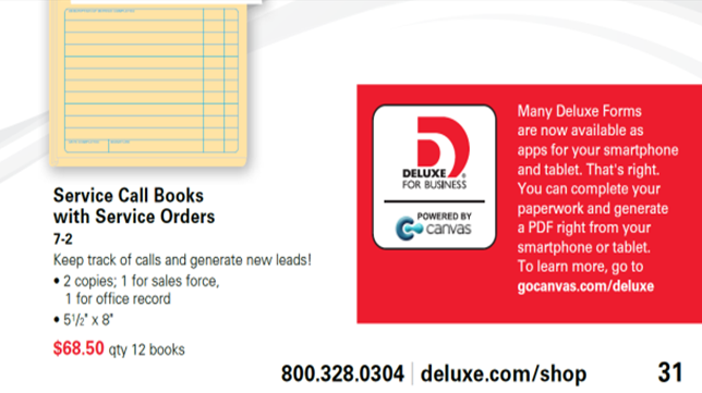 Deluxe Idea Book Promoting Mobile Apps with Canvas
