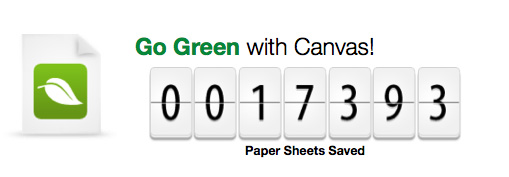 Save Paper with Canvas