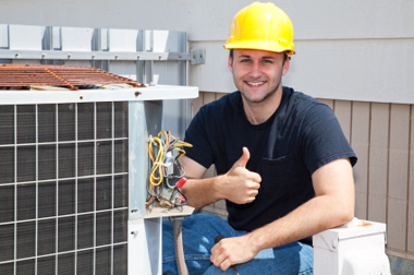 HVAC Service Tech Using Mobile Apps with Canvas