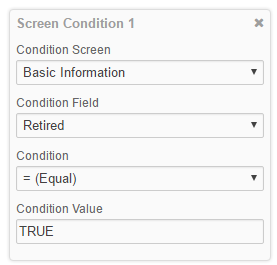 Screen Conditions