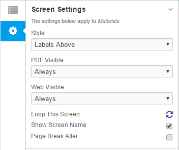 Screen Settings