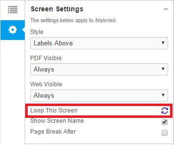 Screen Settings Loop