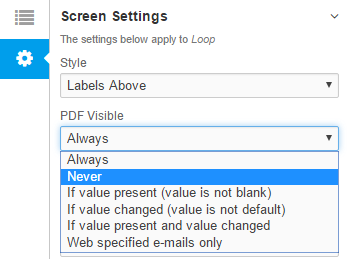 PDF Visible Never