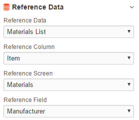 Reference Data Mapping