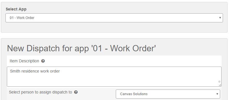 Create Dispatch - Web Interface - Step 4