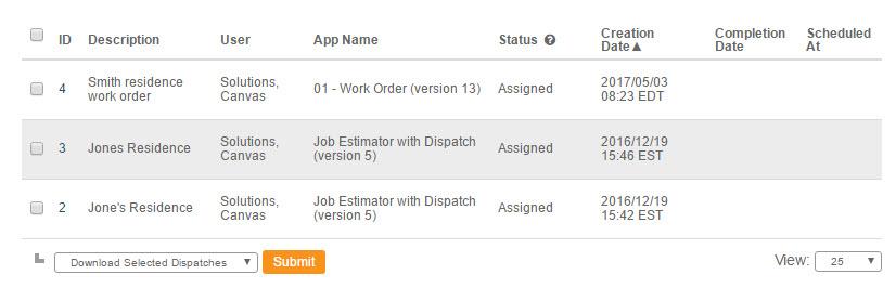 Create Dispatch - Web Interface - Step 6