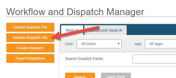 Create Dispatch - Bulk - Step 1