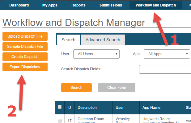 canvas workflow and dispatch manager