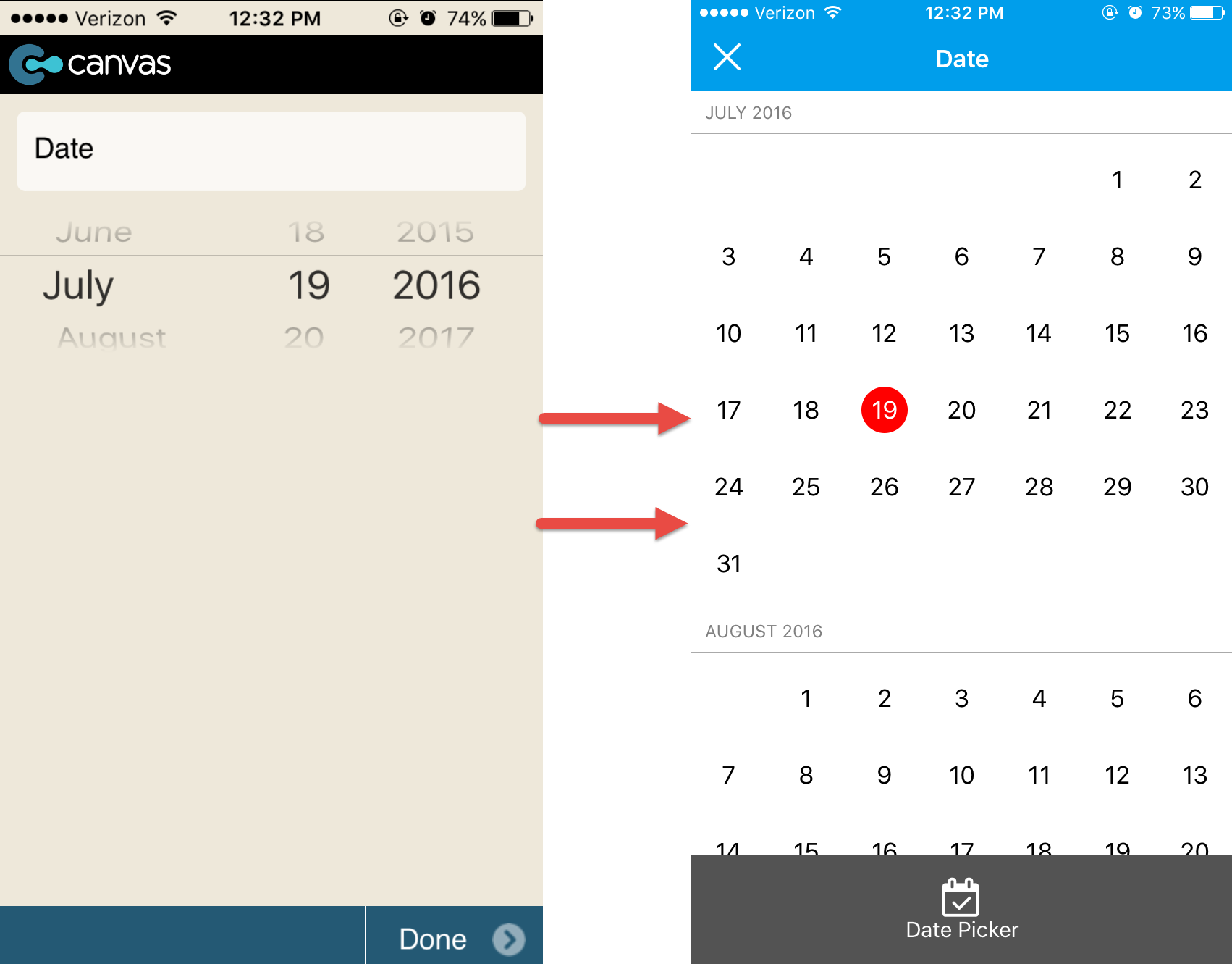 Check out the new GoCanvas calendar view