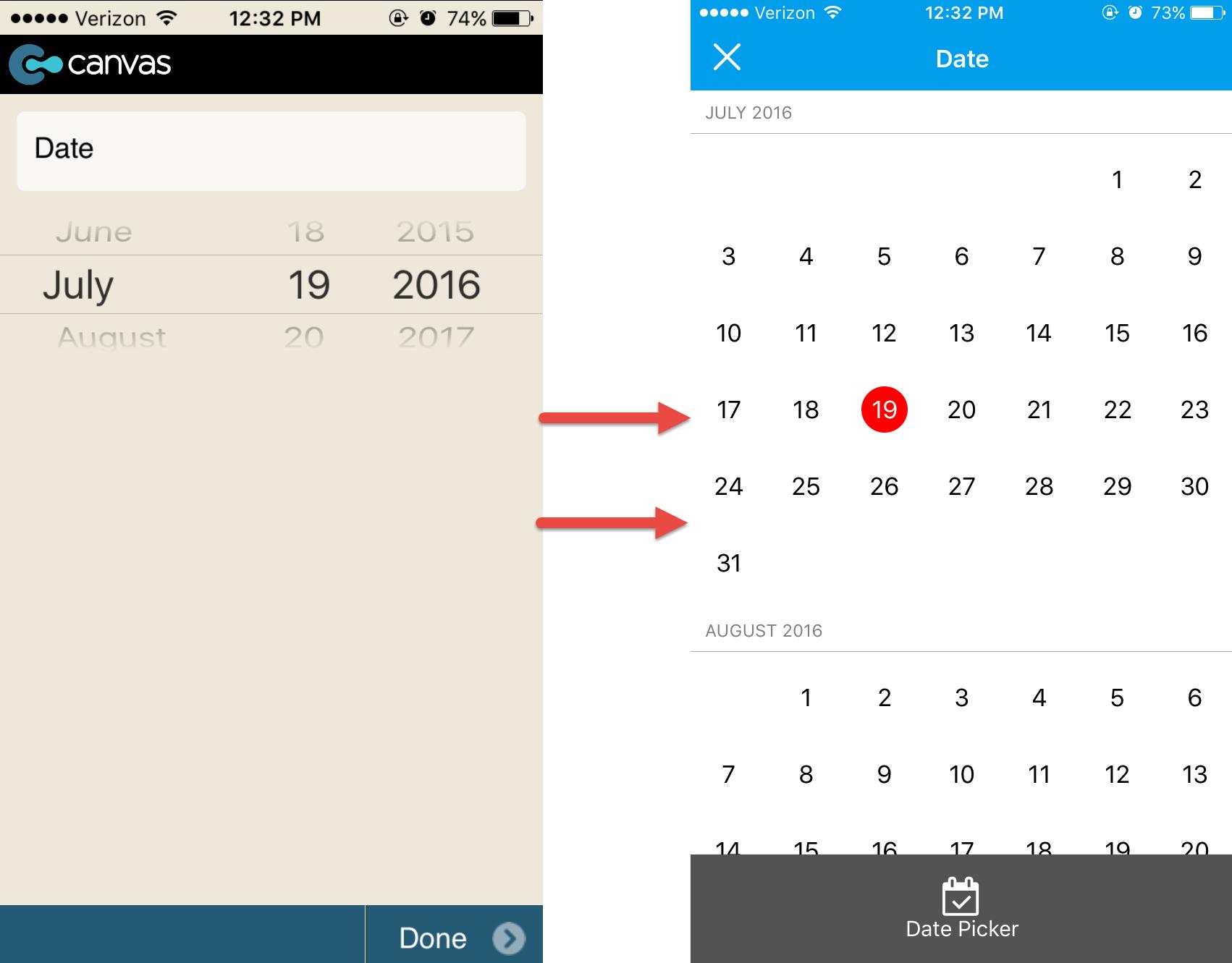 Check out the new GoCanvas calendar view