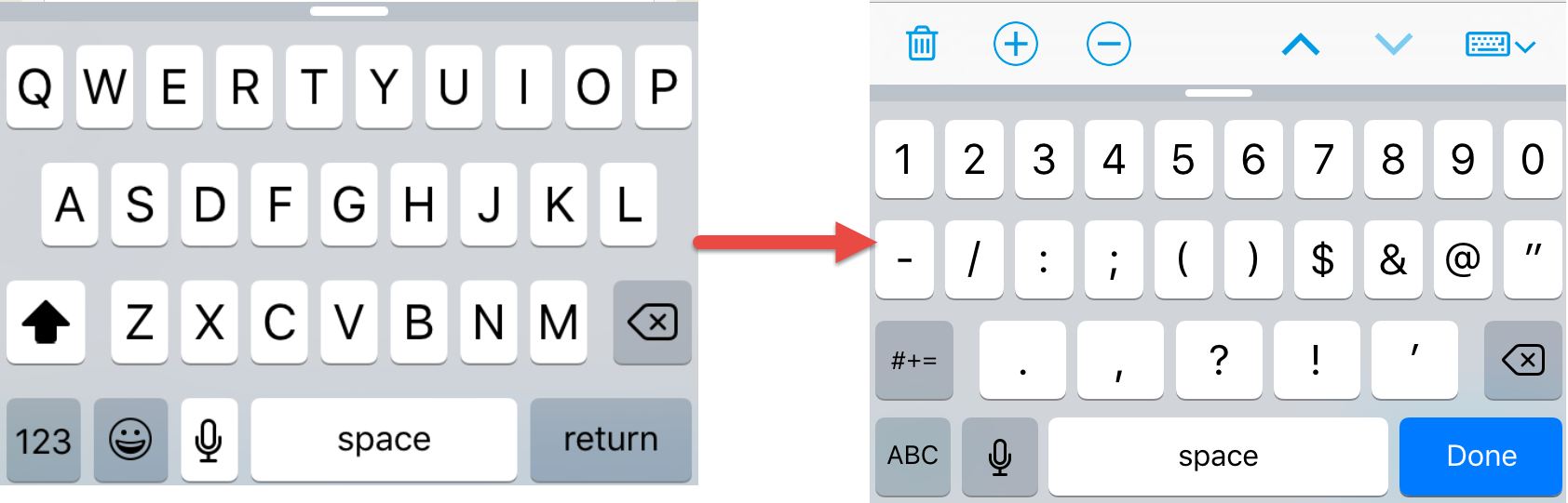 Canvas keyboard updates on iOS app