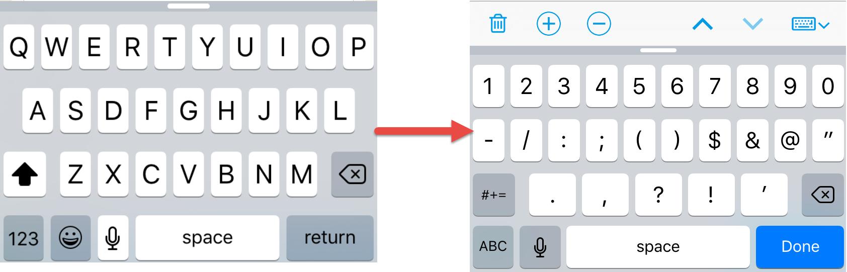 Canvas keyboard updates on iOS app