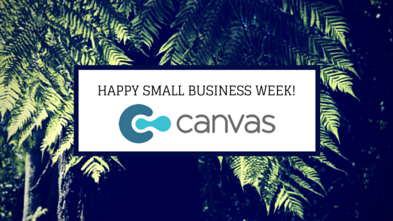 happy small business week from Canvas