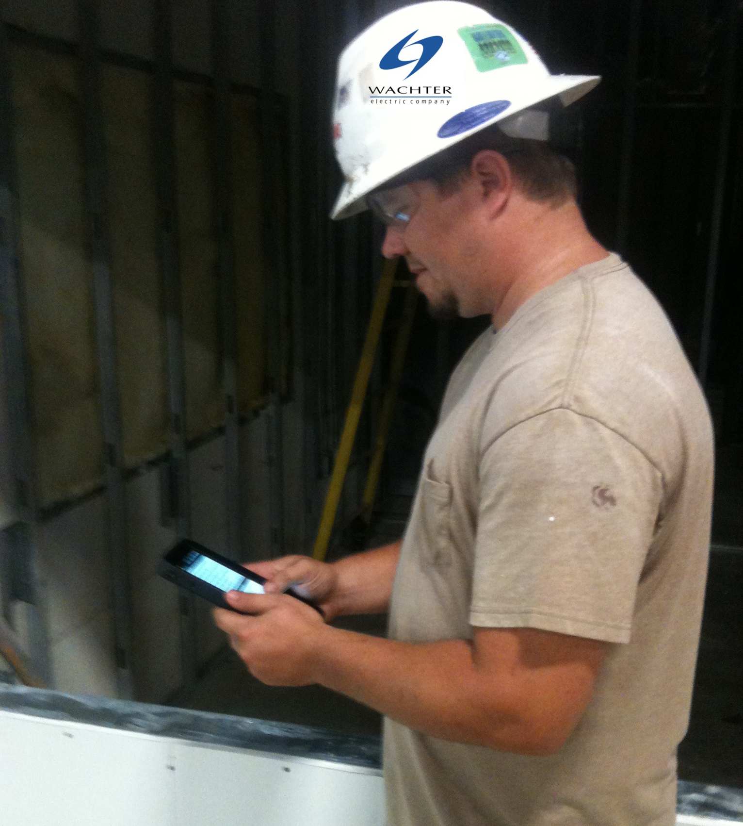 Wachter Worker using GoCanvas on Android Tablet