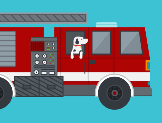 fire truck. fire truck graphic design. prevent using your fire trucks with fire suppression checklists.