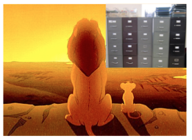 lion king with filing cabinets