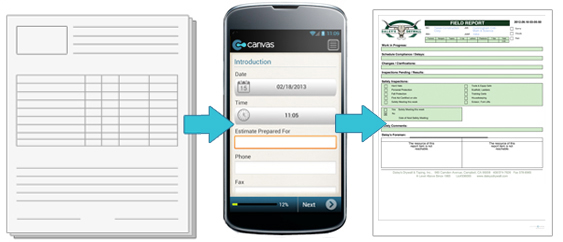 Turn your form into an app then have it match your existing form with Custom Custom Output services