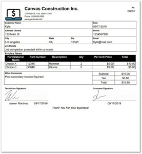 invoice forms templates