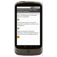 Android: Business Plan - Checklist.com Mobile App (Example 3)