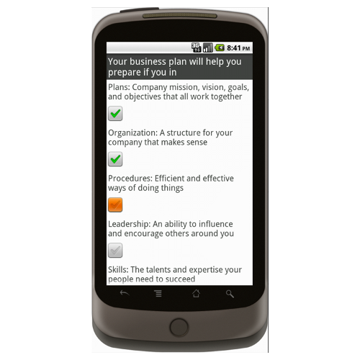 Android: Business Plan - Checklist.com Mobile App (Example 4)