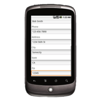 Android Device: Deluxe 2525 - Road Service Example 2
