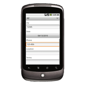 Android Device: Deluxe 248 - Locksmith Work Order Example 1