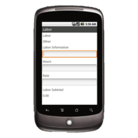 Android Device: Deluxe 248 - Locksmith Work Order Example 3