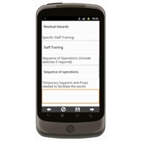 Android: Demolish of Old Chimney Method Statement Mobile App (Example 3)