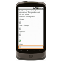 Android: Project Closeout Checklist - Construction Forms for Contractors Mobile App (Example 2)