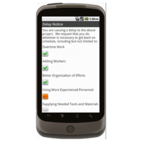 Android: Delay Notice - Construction Forms for Contractors Mobile App (Example 2)