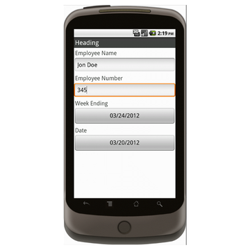 Android: Basic Time Card (Canada) Mobile App (Example 1)