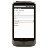 Android: Sales Order Form (Canada) Mobile App (Example 2)