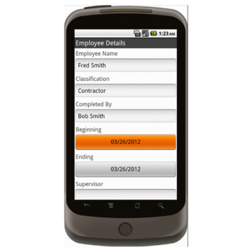 Android: Weekly Timesheet - Construction Forms for Contractors Mobile App (Example 1)
