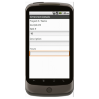Android: Weekly Timesheet - Construction Forms for Contractors Mobile App (Example 2)