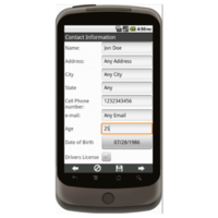 Android: APPLE MD Lead Generation Form - Army National Gaurd Mobile App (Example 1)