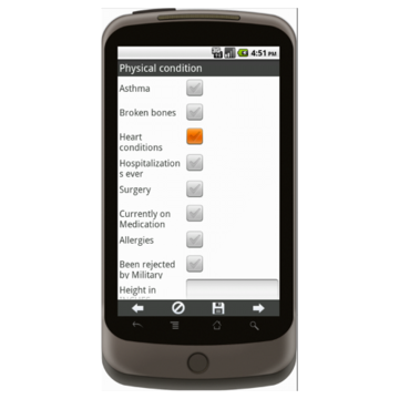 Android: APPLE MD Lead Generation Form - Army National Gaurd Mobile App (Example 2)