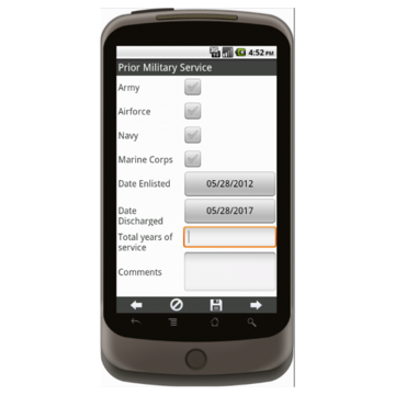 Android: APPLE MD Lead Generation Form - Army National Gaurd Mobile App (Example 3)